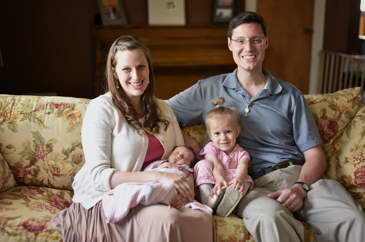 Zelie Newborn Family Photo
