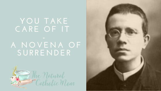 You Take Care of It – A Novena of Surrender