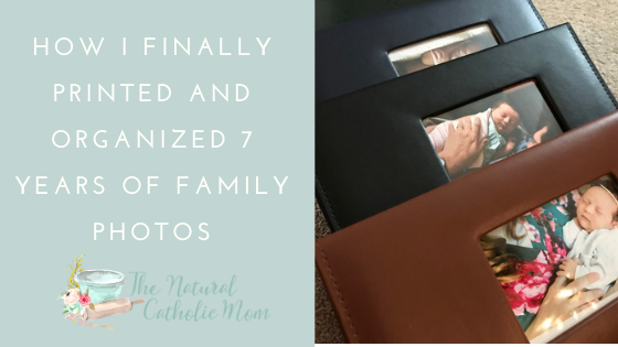 How I Finally Printed and Organized 7 Years of Family Photos