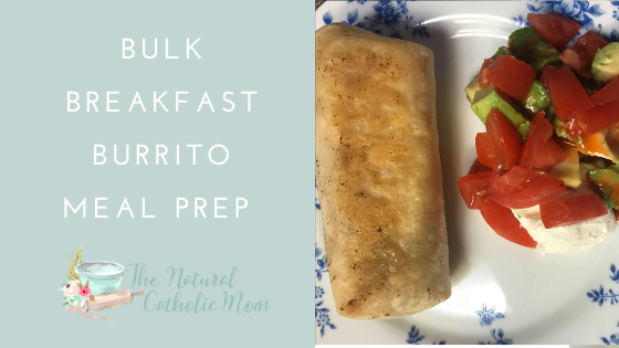 Bulk Breakfast Burrito Meal Prep